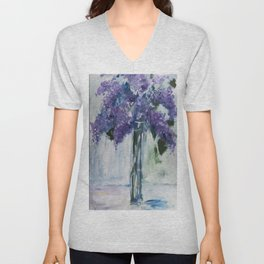 Love Those Lilacs Unisex V-Neck