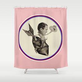 Bush riding the Bomb Shower Curtain