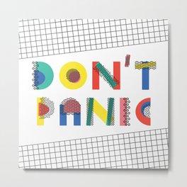 Don't Panic, it's Retro Metal Print