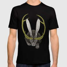 Jackalope LARGE Mens Fitted Tee Black