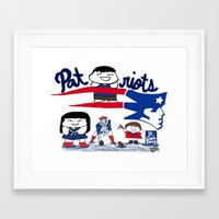 patriots Framed Art Prints featuring Team Patriots!  by Happy Positivity