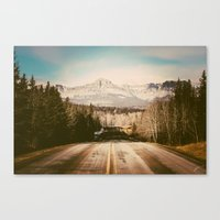the mountains are calling Canvas Prints featuring the mountains are calling by Leanne Taylor Collection