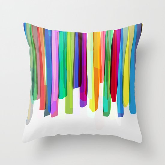 Colorful Stripes 2 Throw Pillow