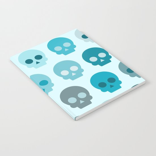 Colorful Skull Cute Pattern II Notebook