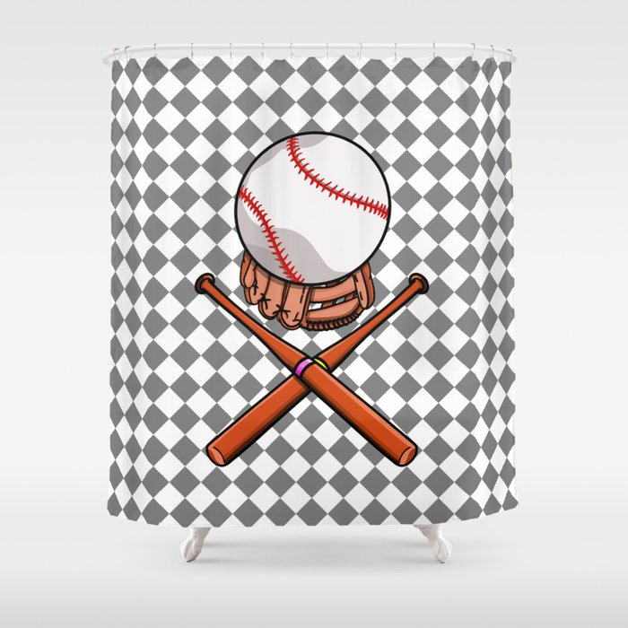 Baseball Shower Curtain By Mailboxdisco