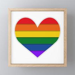 LGBTQ+ Heart-shaped Flag Framed Mini Art Print