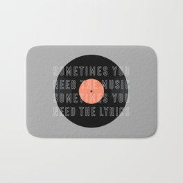 Sometimes You Need The Music Bath Mat
