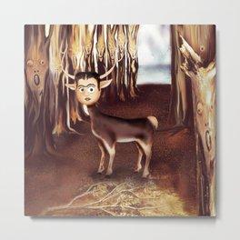 Deer Frida Metal Print