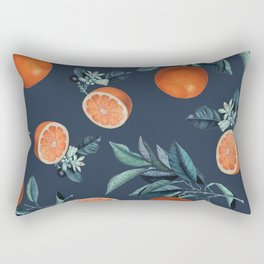 Lemon and Leaf Pattern VI Rectangular Pillow