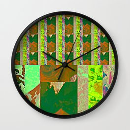Rose Collage 143.5 Wall Clock