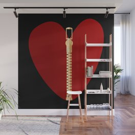 Zipper Heart Wall Mural