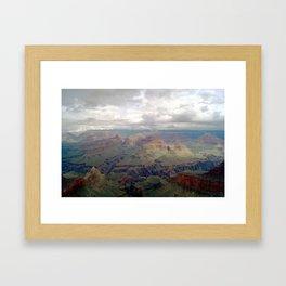 Cloudy Grand Canyon II Framed Art Print