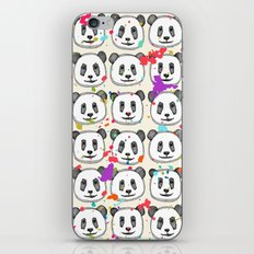 splatter pop panda cookies iPhone Skin
