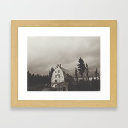 Semi-inviting Lodge Framed Art Print