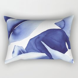 Royal Blue Palms no.1 Rectangular Pillow