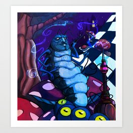 The Caterpillar Art Print