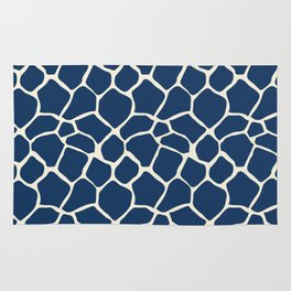 Giraffe Pattern Animal Print (navy) Rug