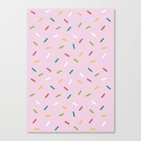 donut Canvas Prints featuring Donut by According to Panda