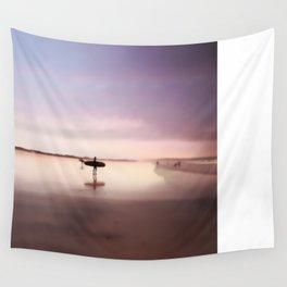 Pink Surf Wall Tapestry
