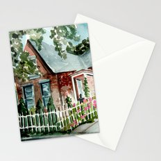German Village House in Columbus, Ohio Stationery Cards