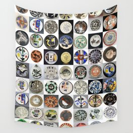 Picasso Ceramic Plates Wall Tapestry