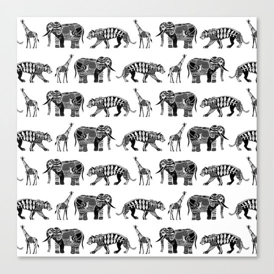 graphic zoo Canvas Print