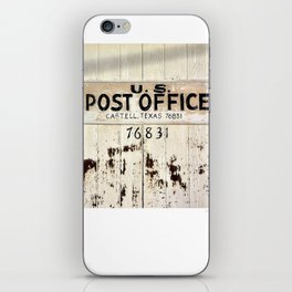 Post Office in Castell, Texas iPhone Skin