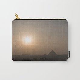 Sunset at Giza Pyramids Giza Egypt Cairo Carry-All Pouch