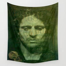 Absinthe, Vintage Advertisement Collage Wall Tapestry