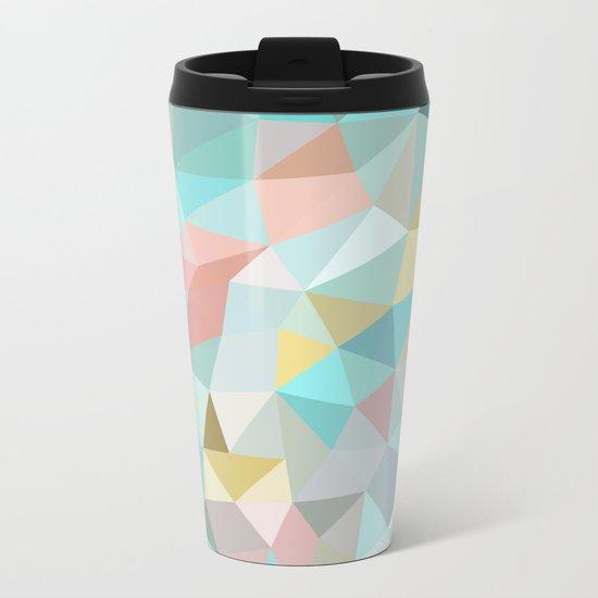 Pastel Tris Metal Travel Mug