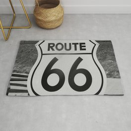 Route 66 Sign Rug