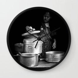 Cooking in Kathmandu, Nepal Wall Clock