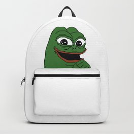 Pepe The Frog rare excited pepe grin big eyes Backpack