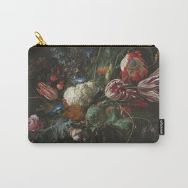 Jan Davidsz de Heem - Vase of Flowers (c.1660) Carry-All Pouch