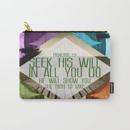 Seek His Will Carry-All Pouch