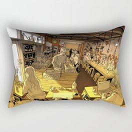 Monk bodhi dharma Rectangular Pillow