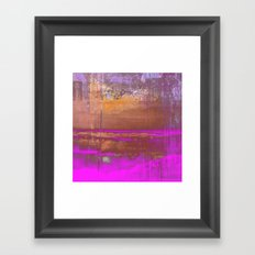 Pink Color Patches Framed Art Print