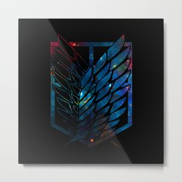 Wings Of Justice: Galaxy Metal Print