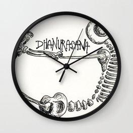 """Dhanurasana"" Skeleton Print Wall Clock"