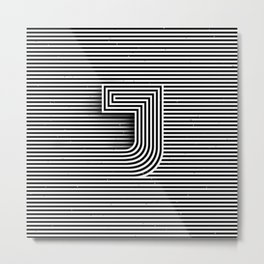 "Illusive letter ""J"" Metal Print"