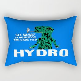 Hydro Gecko what 15 minutes can save Rectangular Pillow
