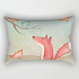 Gabriel's tales: Fox and the birds Rectangular Pillow