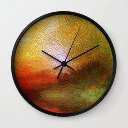 Celestial Sunrise - Digital Art By Sharon Cummings Wall Clock