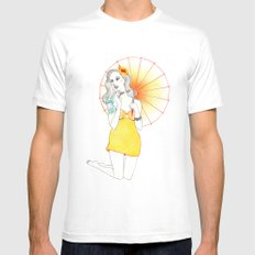 Pin-Up  MEDIUM Mens Fitted Tee White
