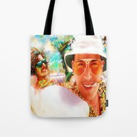 fear and loathing Tote Bags featuring Fear and Loathing in Las Vegas by ururuty