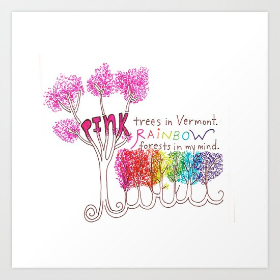 Rainbow Forests Art Print