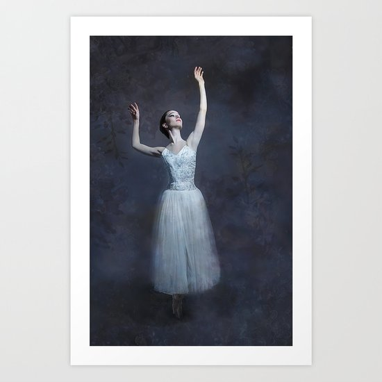 A Basking in the Mystery of Light Art Print