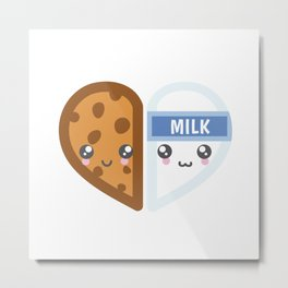 Milk & Cookie Metal Print
