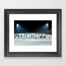 Budapest Ice Rink Framed Art Print