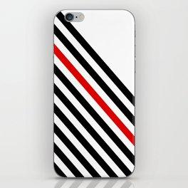 80s stripes iPhone Skin